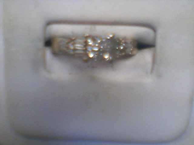 Lady's Diamond Solitaire Ring 17 Diamonds .53 Carat T.W. 14K White Gold 3g