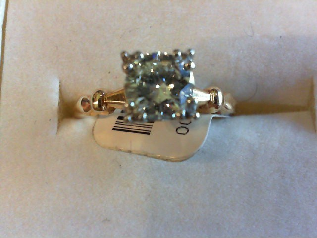 Lady's Diamond Solitaire Ring 0.78 CT. 14K Yellow Gold 2.76g