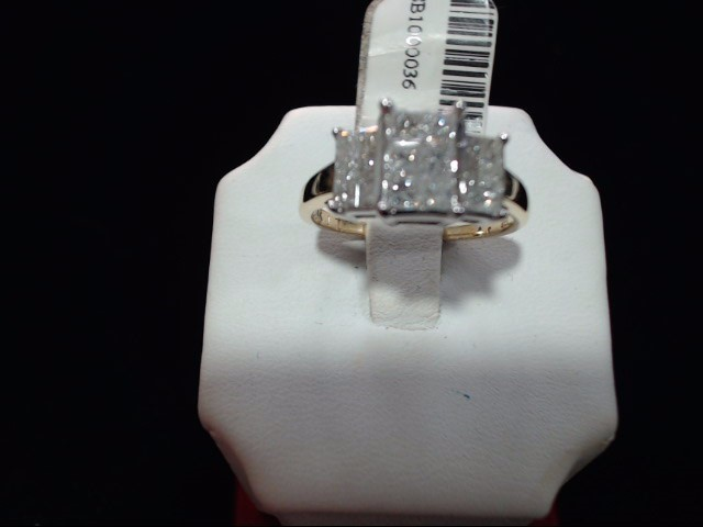 Lady's Diamond Engagement Ring 0.01 CT. 14K Yellow Gold 3.5g