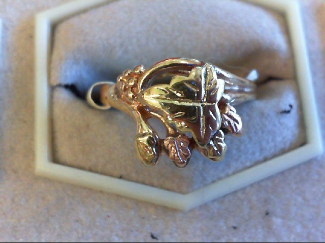 Lady's Gold Ring 10K 2 Tone Gold 3g