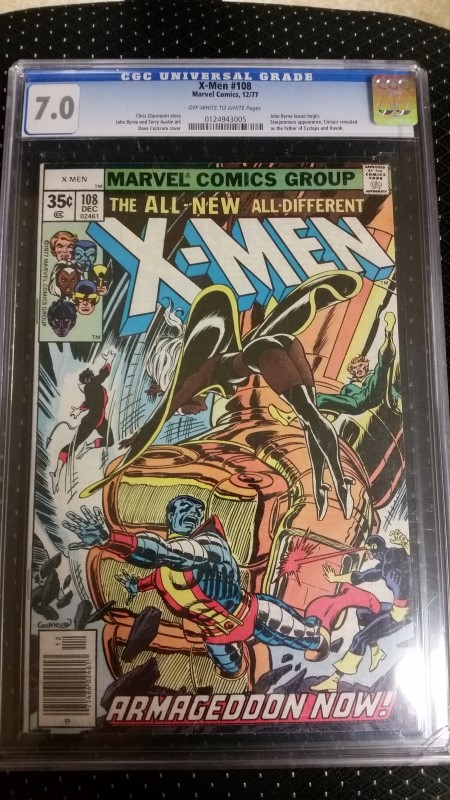 X-Men #108 Dec. 1977 12/77 CGC 7.0 OW/W Pages John Byrne Issues Begin