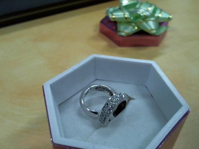 Gold-Diamond Earrings 80 Diamonds .80 Carat T.W. 14K White Gold 2.5g