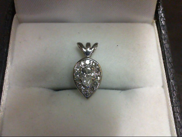 Gold-Multi-Diamond Pendant 13 Diamonds 0.3 Carat T.W. 14K White Gold 0.8g