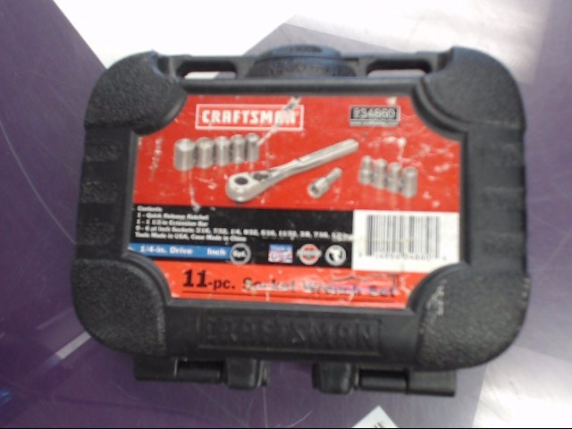 "CRAFTSMAN 934860 11 PIECE 1/4"" RATCHET SET"
