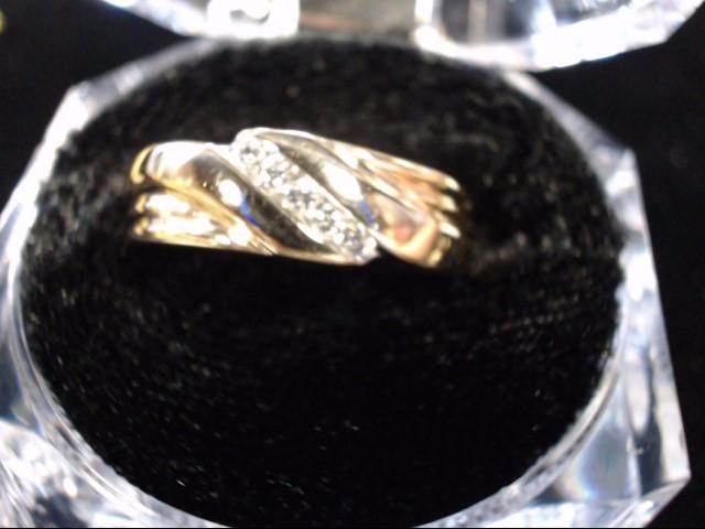 Gent's Gold-Diamond Wedding Band 5 Diamonds .05 Carat T.W. 14K Yellow Gold 6.5g