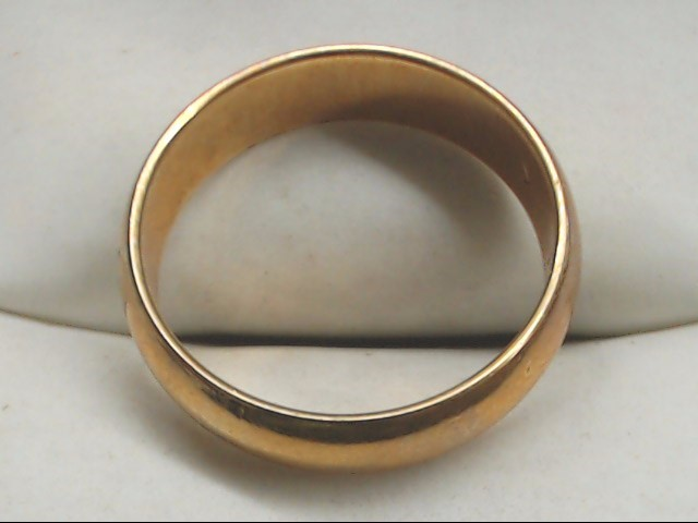 Lady's Gold Wedding Band 14K Yellow Gold 4g Size:7