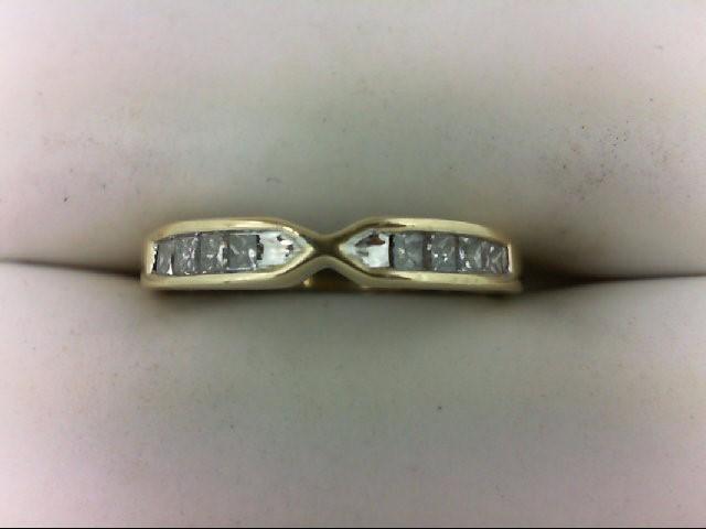Lady's Diamond Wedding Band 8 Diamonds 0.24 Carat T.W. 14K Yellow Gold 2.4g Size