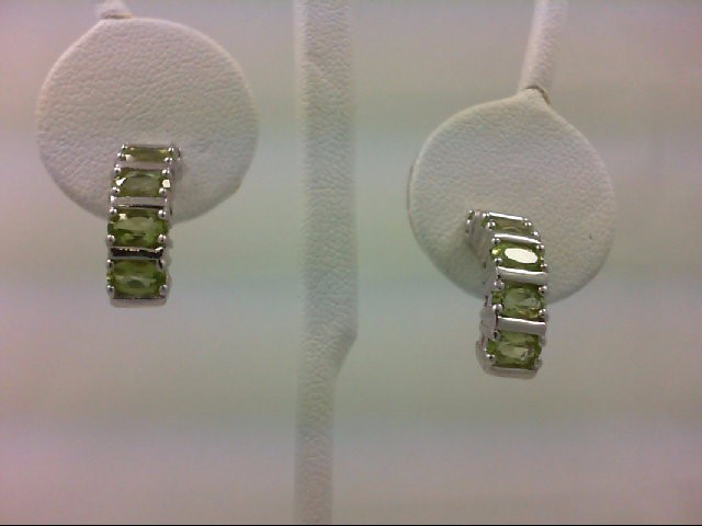 Peridot Silver-Stone Earrings 925 Silver 4.6g