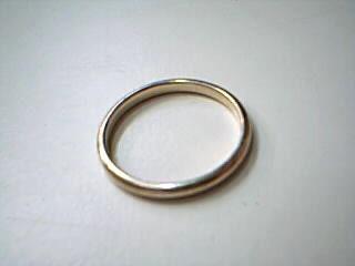 Lady's Gold Wedding Band 14K Yellow Gold 2g
