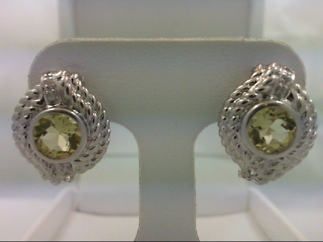 Peridot Silver-Stone Earrings 925 Silver 6.6g