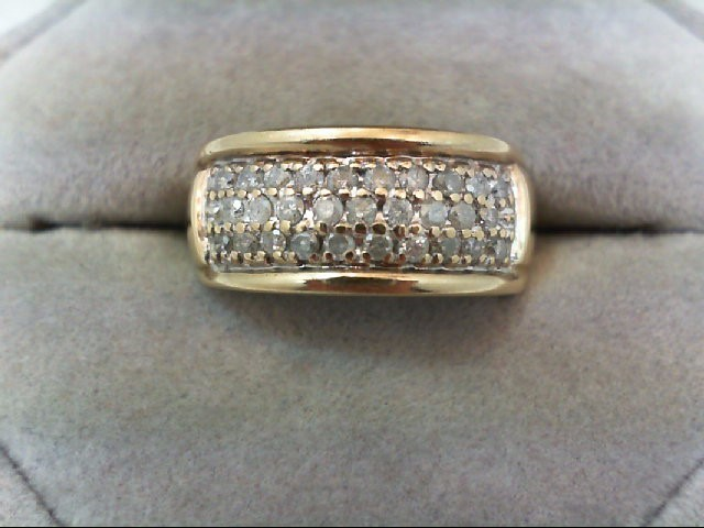 Lady's Diamond Cluster Ring 29 Diamonds .58 Carat T.W. 10K Yellow Gold 3.3g