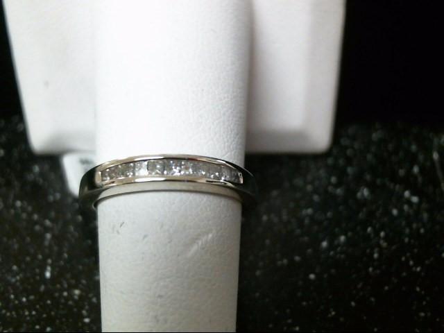 Lady's Diamond Wedding Band 11 Diamonds .55 Carat T.W. 10K White Gold 2.7g