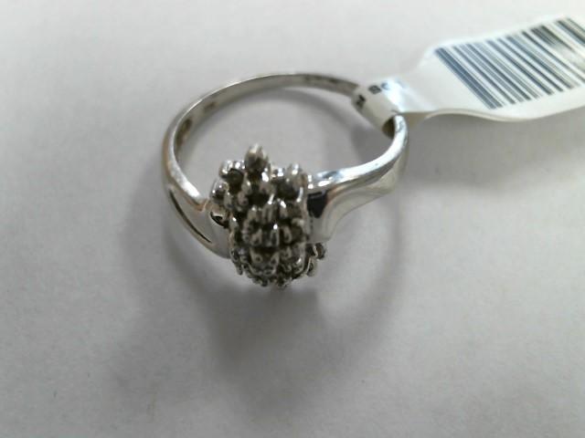 Lady's Diamond Cluster Ring 22 Diamonds .04 Carat T.W. 10K Yellow Gold 1.7dwt