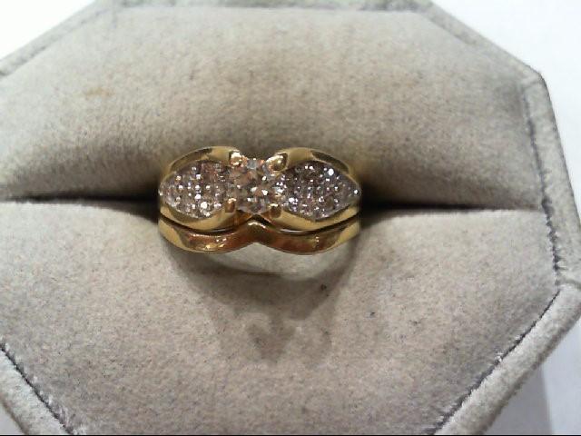 Lady's Diamond Wedding Set 16 Diamonds .55 Carat T.W. 18K Yellow Gold 4.3g