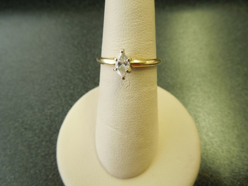 Lady's Diamond Solitaire Ring .25 CT. 14K Yellow Gold 2g