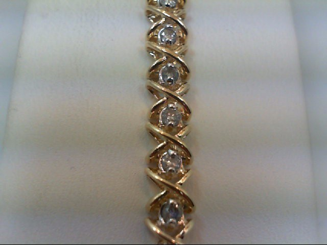 Gold-Diamond Bracelet 32 Diamonds 1.60 Carat T.W. 14K Yellow Gold 13.7g