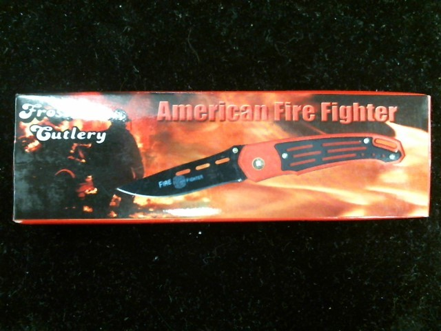 FROST CUTLERY Pocket Knife AMERICAN FIREFIGHTER