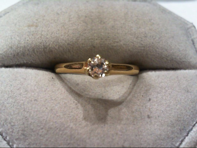 Lady's Diamond Engagement Ring .20 CT. 14K Yellow Gold 2g