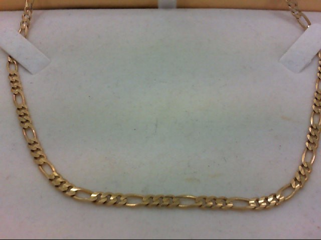 "18"" Gold Figaro Chain 14K Yellow Gold 11.3g"