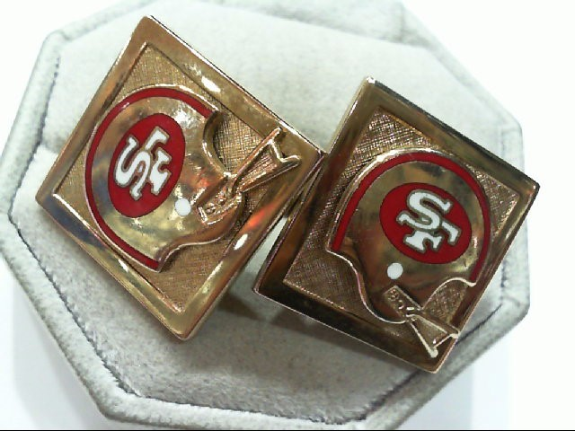 Gold Cuff Links Yellow Gold Filled 21.2g