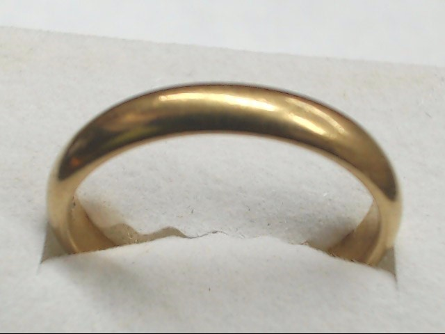 Gent's Gold Wedding Band 14K Yellow Gold 3.5g Size:9