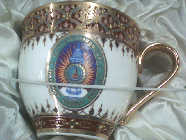 NARAI PHAND Glass/Pottery HAND PAINTED CUP AND SAUCER