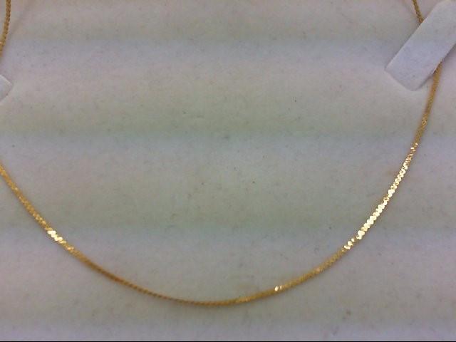 "20"" Gold Serpentine Chain 14K Yellow Gold 1.7g"