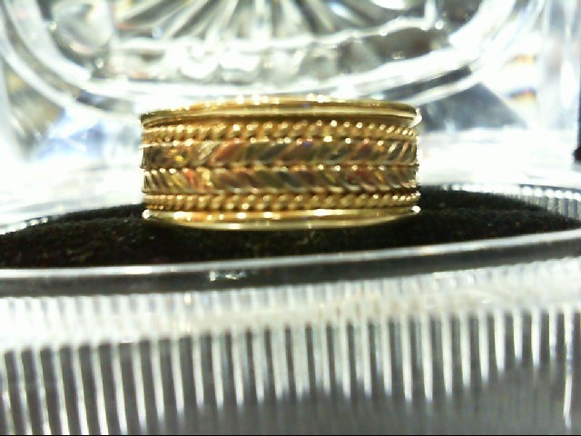 Lady's Gold Wedding Band 14K Tri-color Gold 6g