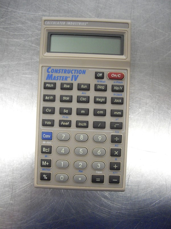 Construction Master Calculator Like New Buya