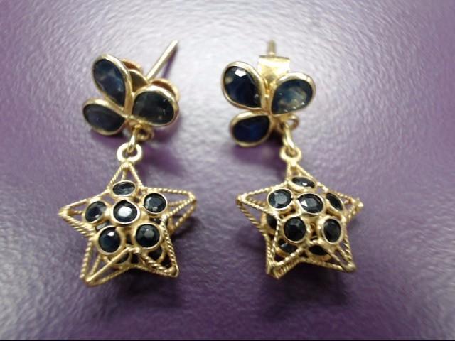 Gold Star Earrings 14K Yellow Gold 1.68g