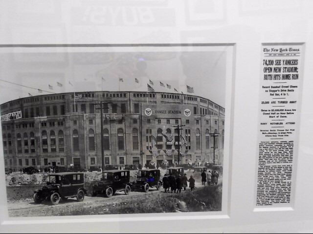 NEW YORK YANKEES STADIUM APRIL 19, 1923 PROFESSIONALLY FRAMED WITH ARTICLE