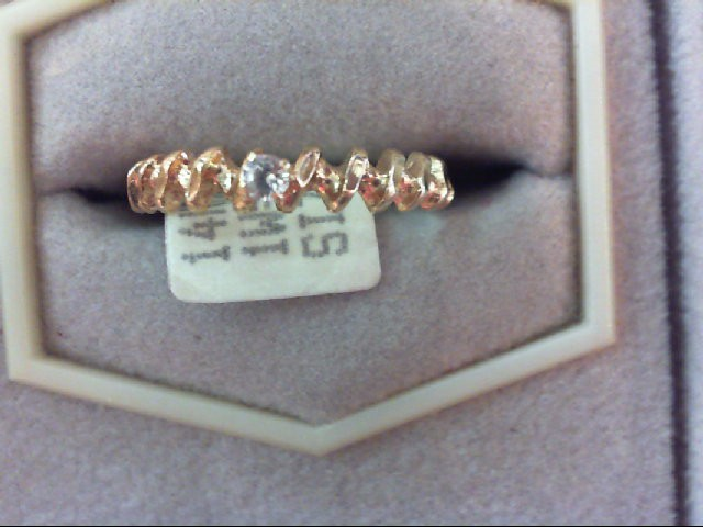 Lady's Diamond Engagement Ring .05 CT. 14K Yellow Gold 1.3g