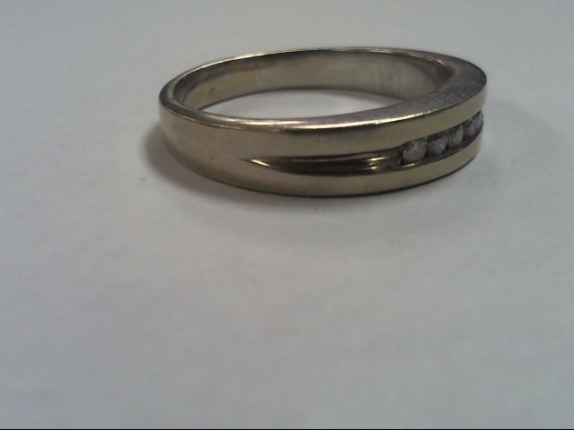 Gent's Diamond Fashion Ring 5 Diamonds .25 Carat T.W. 10K White Gold 7.8g