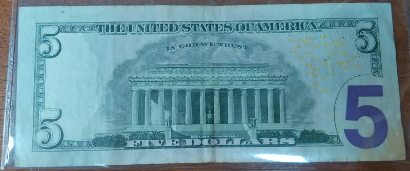 $5 Federal Reserve Replacement Star Note