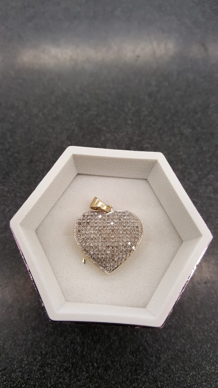 Gold-Multi-Diamond Pendant 175 Diamonds 1.75 Carat T.W. 10K Yellow Gold 2g
