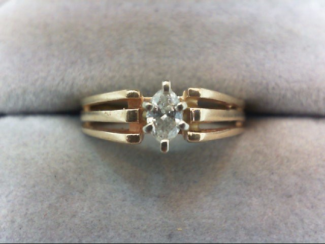 Lady's Diamond Solitaire Ring .22 CT. 14K Yellow Gold 3g