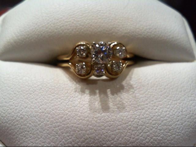 Lady's Diamond Wedding Set 6 Diamonds .48 Carat T.W. 14K Yellow Gold 4g