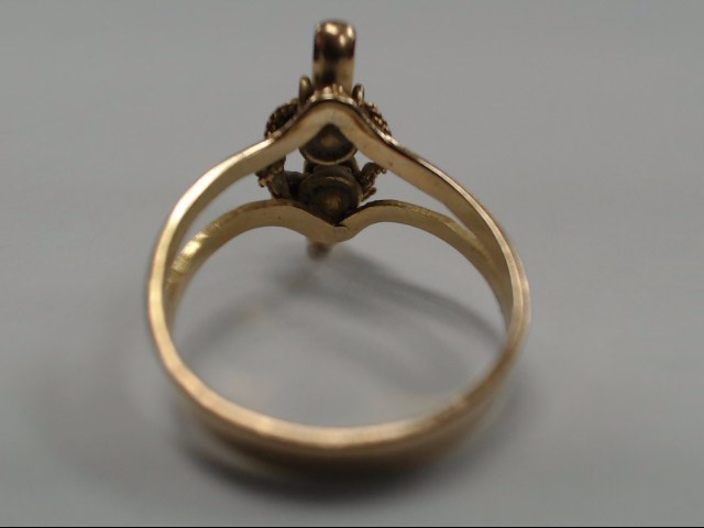 18K LADIES LASSO KNOT EQUESTRIAN RING SIZE 7.25