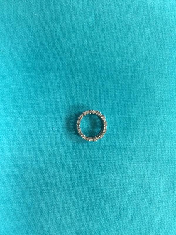 Gold-Multi-Diamond Pendant 15 Diamonds .15 Carat T.W. 14K White Gold 1.2dwt