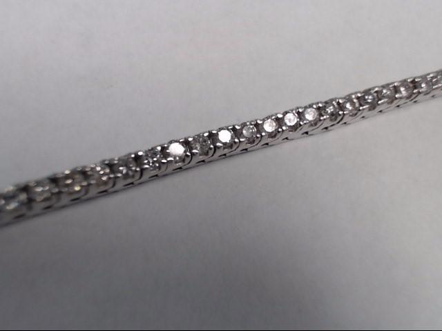 Gold-Diamond Bracelet 70 Diamonds 2.80 Carat T.W. 14K White Gold 12.4g