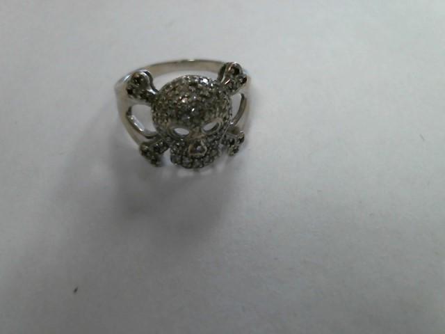Lady's Gold Ring 10K White Gold 2.7dwt