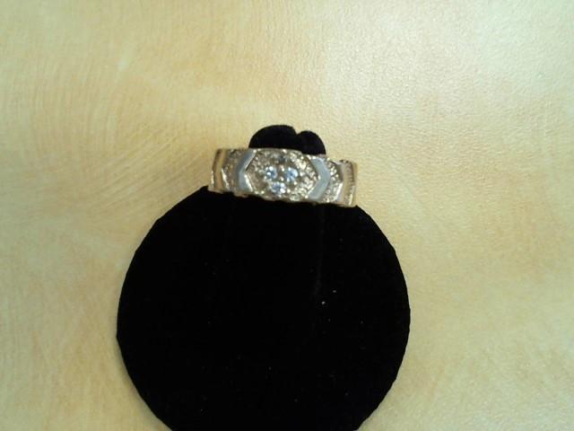 Lady's Diamond Wedding Band 4 Diamonds .12 Carat T.W. 14K Yellow Gold 5.9g