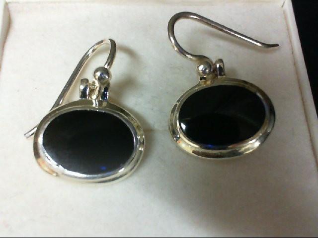 Onyx Silver-Stone Earrings 925 Silver 3g