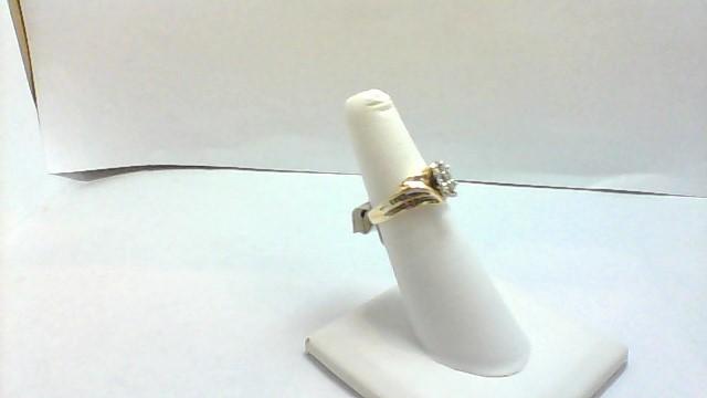 Lady's Diamond Wedding Band 9 Diamonds .33 Carat T.W. 10K Yellow Gold 3.7g