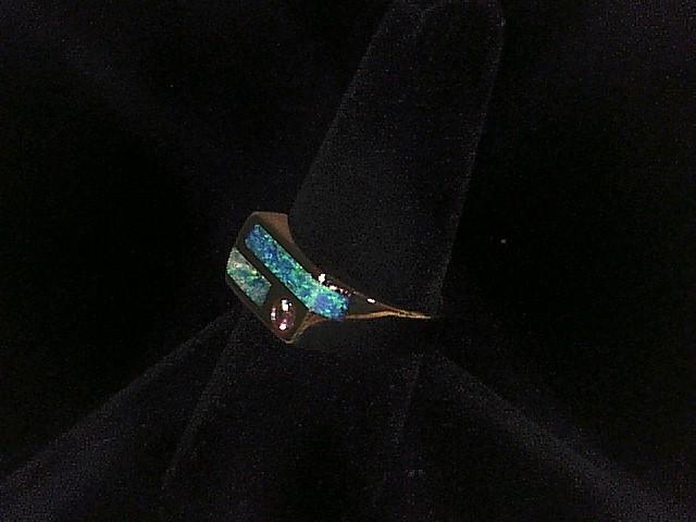 BOULDER OPAL W/ DIA UNISEX RING