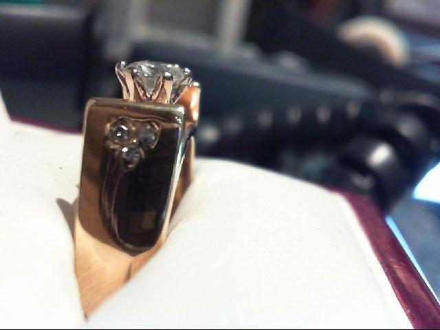 Lady's Diamond Solitaire Ring 7 Diamonds .60 Carat T.W. 14K Yellow Gold 7.2g