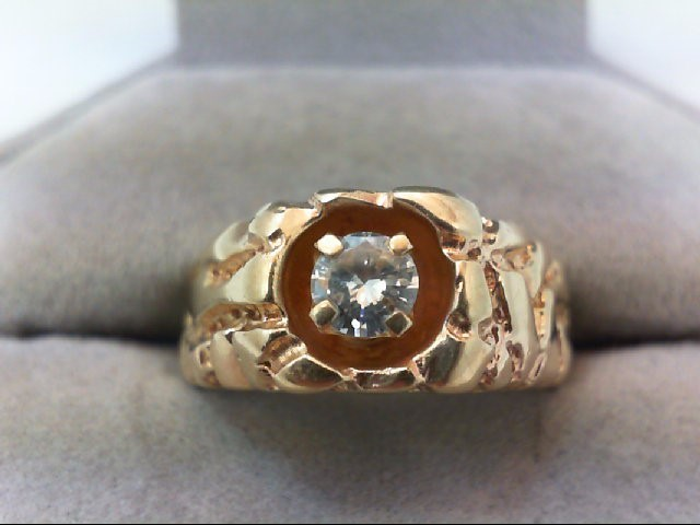 Gent's Diamond Solitaire Ring .40 CT. 10K Yellow Gold 7.4g