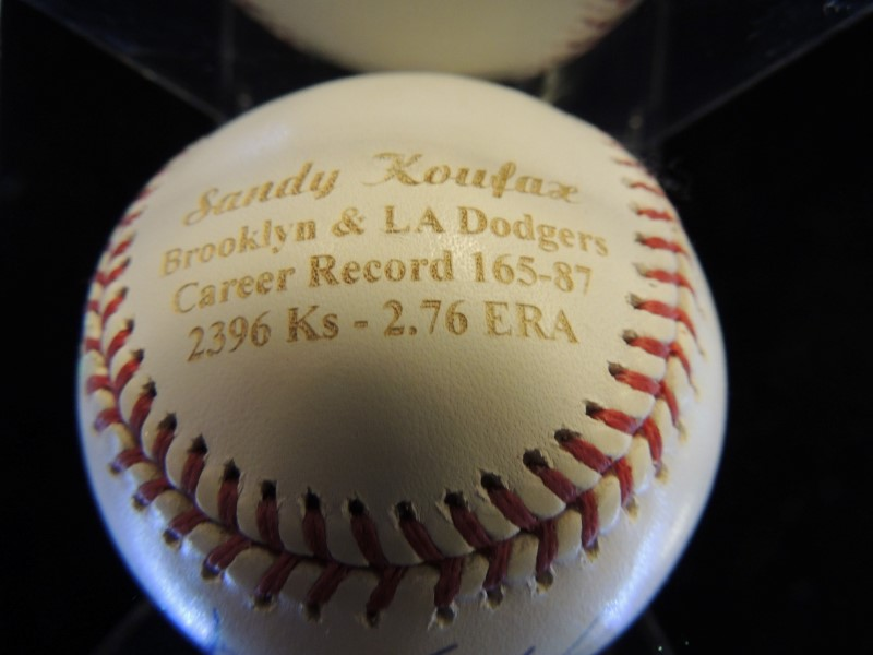 Sandy Koufax Signed/Autographed Official MLB Authentic Baseball Steiner 4/32