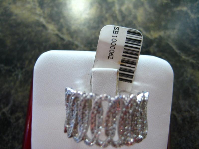 Lady's Gold-Diamond Anniversary Ring 0.01 CT. 14K White Gold 5.4g