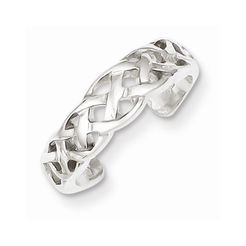 NEW SS WEAVE TOE RING